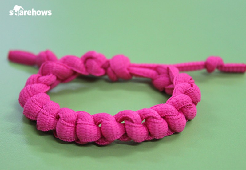 a-bracelet-made-with-shoelace 12