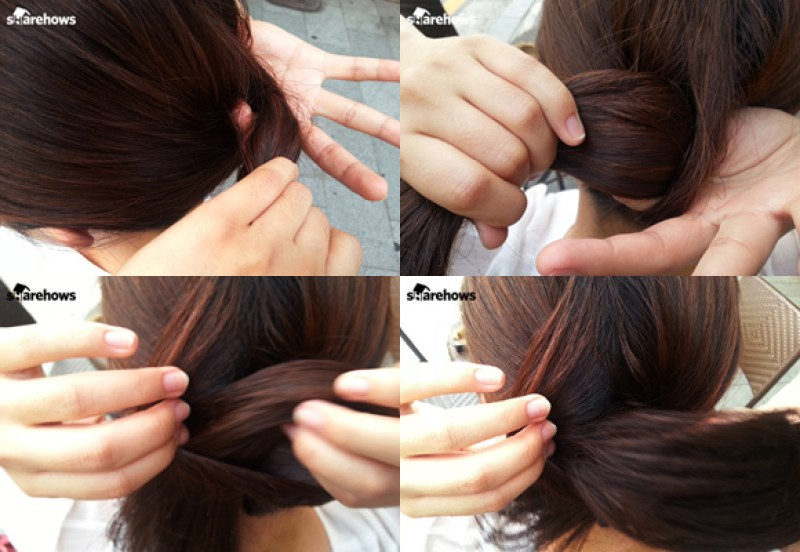 how-to-tie-hair-back-without-head-string 05