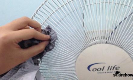 선풍기 커버 청소 손쉽게 하는 방법