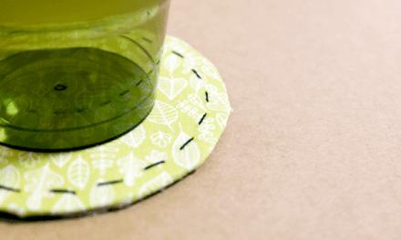 택배상자로 야매 컵받침 만들기