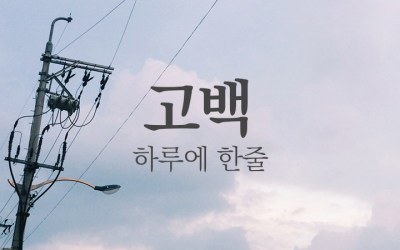 하루에 한줄 _ 고정희 '고백'