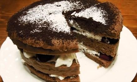 오븐 없이 만드는 상큼한 체리 케이크