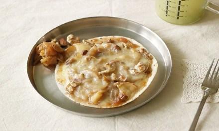 애플 시나몬 또띠아 피자 만들기