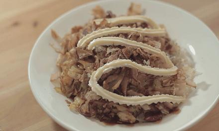 집에서 오코노미야끼 덮밥 만들기