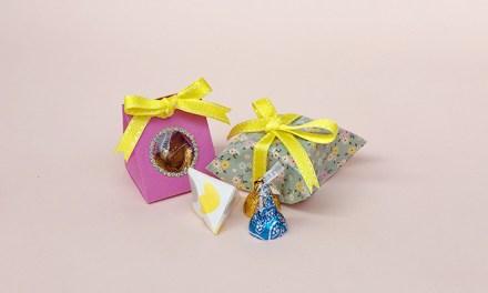 종이로 예쁘게 초콜릿 포장하기