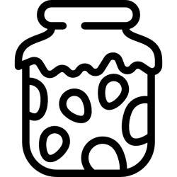 breakfast jam jar icon