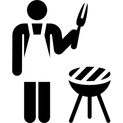 icon grill cooking stick chef barbecue icons kitchen restaurant summertime cookers flaticon solid