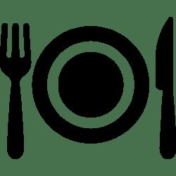 fork dinner plate food restaurant utensils knife dish cutlery icon tools