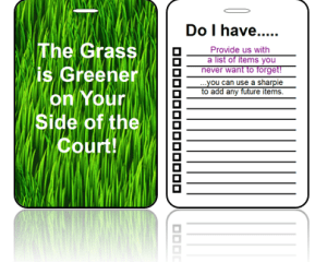 Sports Club Bag Tags Tennis Greener Grass