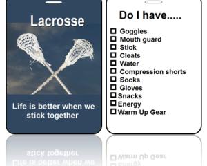 Sports Club Bag Tags Lacrosse