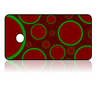 Create Design Key Tags Red Green Modern Circles