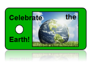Celebrate Earth Day Key Tags Green Design