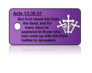 Acts 13:30-31 Holiday Scripture Key Tags