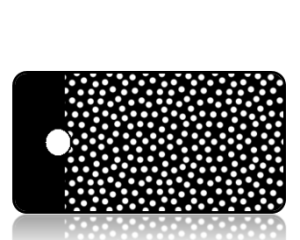 Create Design Key Tags Black loaded White Dots