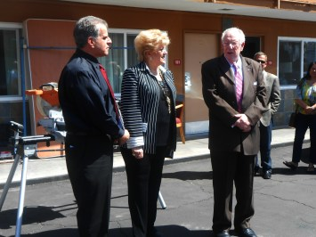 Veterans Village room dedication with Mayor Carolyn and Oscar Goodman