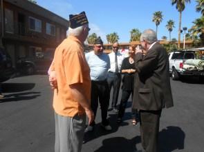 Veterans Village room dedication with Mayor Carolyn and Oscar Goodman