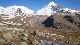 Frozen ground enroute to Mt Kazbek