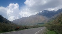 Afternoon buildup over Kazbegi (Stepantsminda)