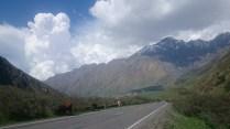 Afternoon buildup over Kazbegi (Stepantsminda)