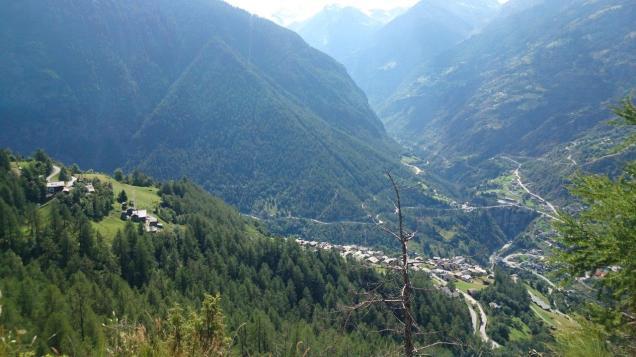 Looking back into the Zermatt valley