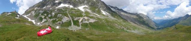 Landing on the Swiss side of Col Ferret