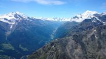 Looking south towards Zermatt
