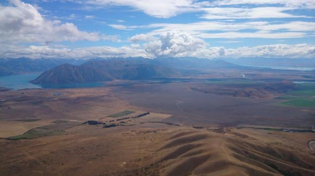 Looking back over my low save. Lake Ohau distant