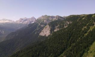 Eastern faces of Brenta massif