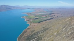 Lake Tekapo, into the flats