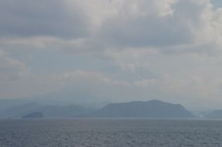 Agung from the Lombok strait