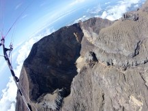 Agung crater and summit