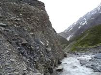 Might climb over this. Plenty of water already, glacier fed
