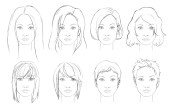 draw hair female sharenoesis