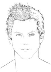 draw hair male sharenoesis