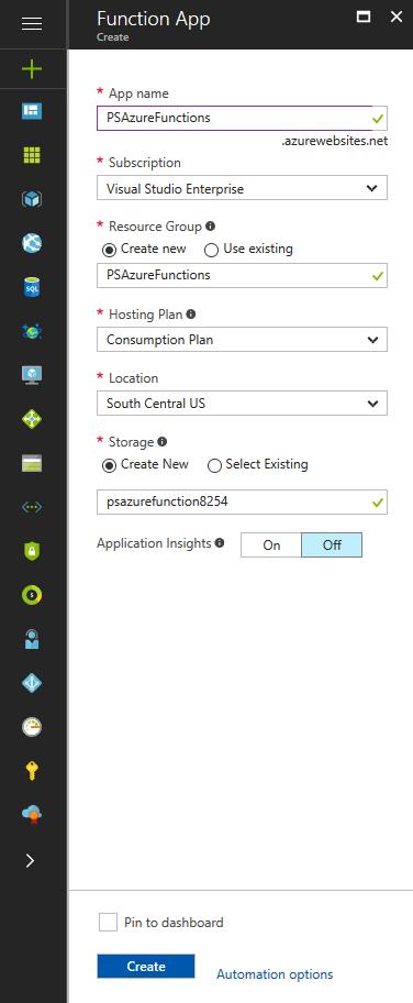 Office 365 - Azure - Running PnP PowerShell using Azure Functions 2