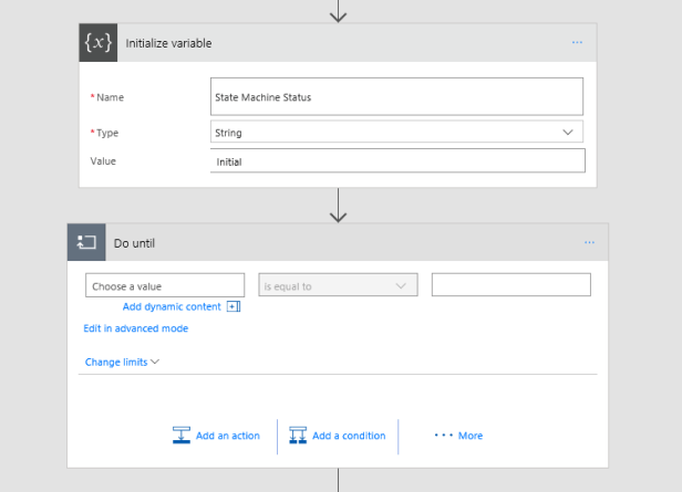 Implementing a State Machine using Microsoft Flow 8