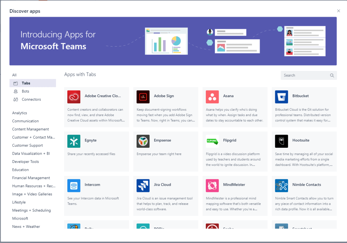 Discover Apps in Microsoft Teams