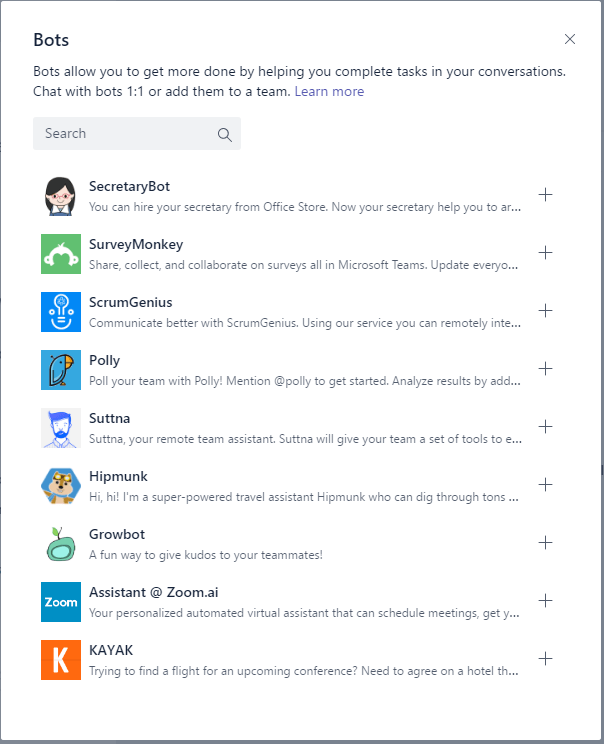 Microsoft Teams - Bots and Settings 9