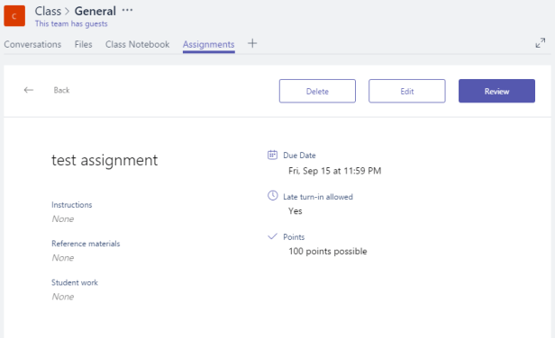 Microsoft Teams - Assignments with guests 4