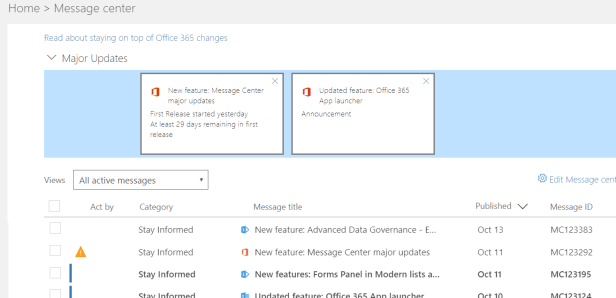 Office 365 - Major updates have arrived 1