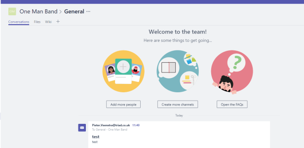 Microsoft Teams - be careful with email links to channels! 2