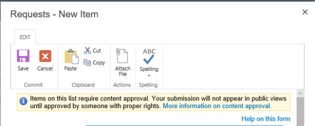 Office 365 - SharePoint online - Content approval gives too many warnings 2