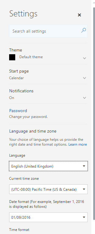 Office 365 - Admin Center uses your local language and will end up doing your building work! Microsoft 365