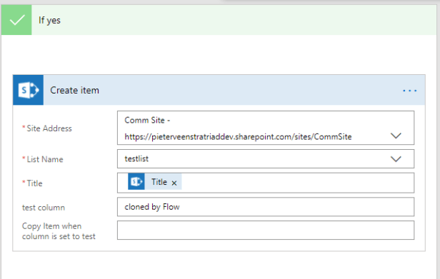 Migrate to Microsoft Flow from SharePoint Designer practical examples - part 1 - Clone list items 4