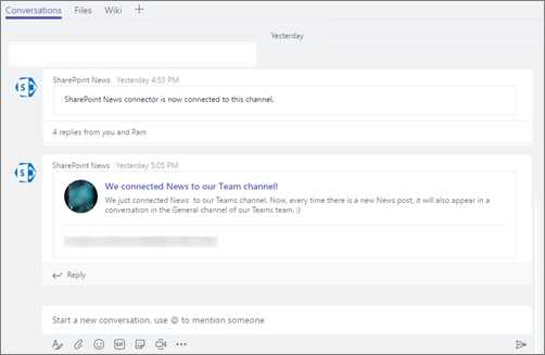 Microsoft Teams - SharePoint News connector 4