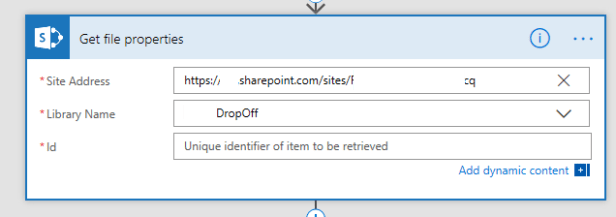 Manipulating Files in SharePoint with Microsoft Flow Microsoft Flow, Microsoft Office 365 getfileproperties