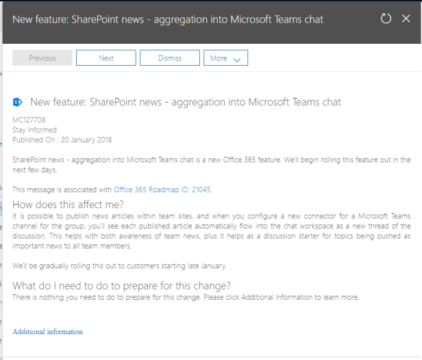 Microsoft Teams - SharePoint News connector Microsoft Office 365 sharepoint news in microsoft teams