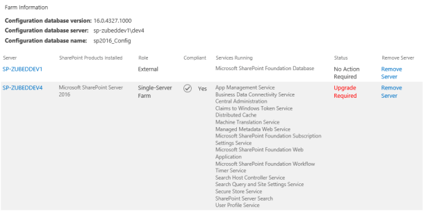 SharePoint 2016 - There was an exception in the database. 3