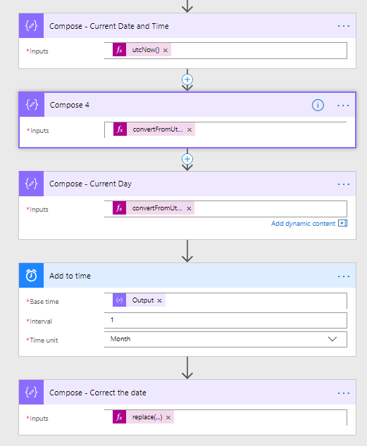 Microsoft Flow -  Calculate next month - Resolved with workaround 5