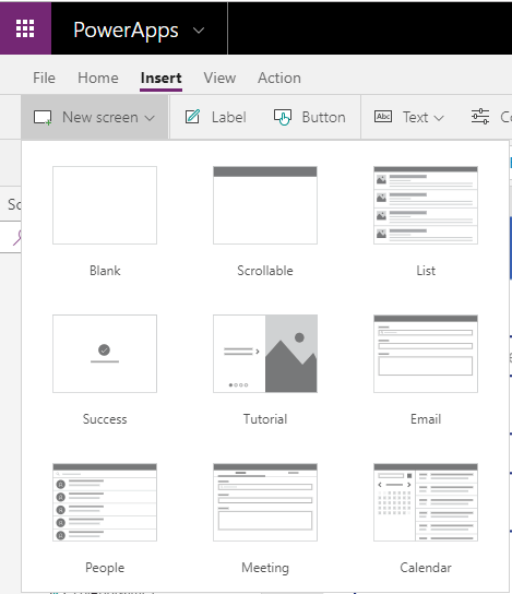 Power Apps Screen templates